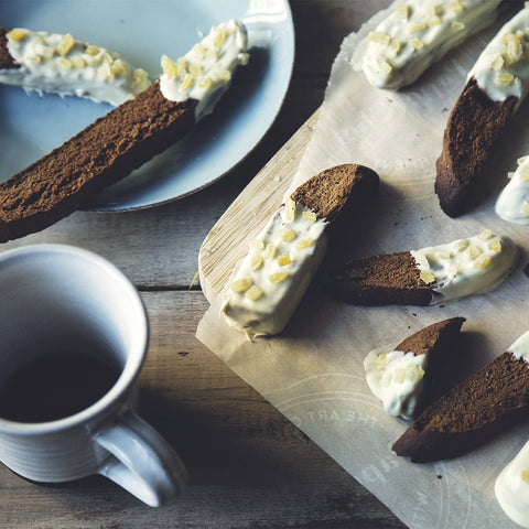 White Chocolate Gingerbread Biscotti