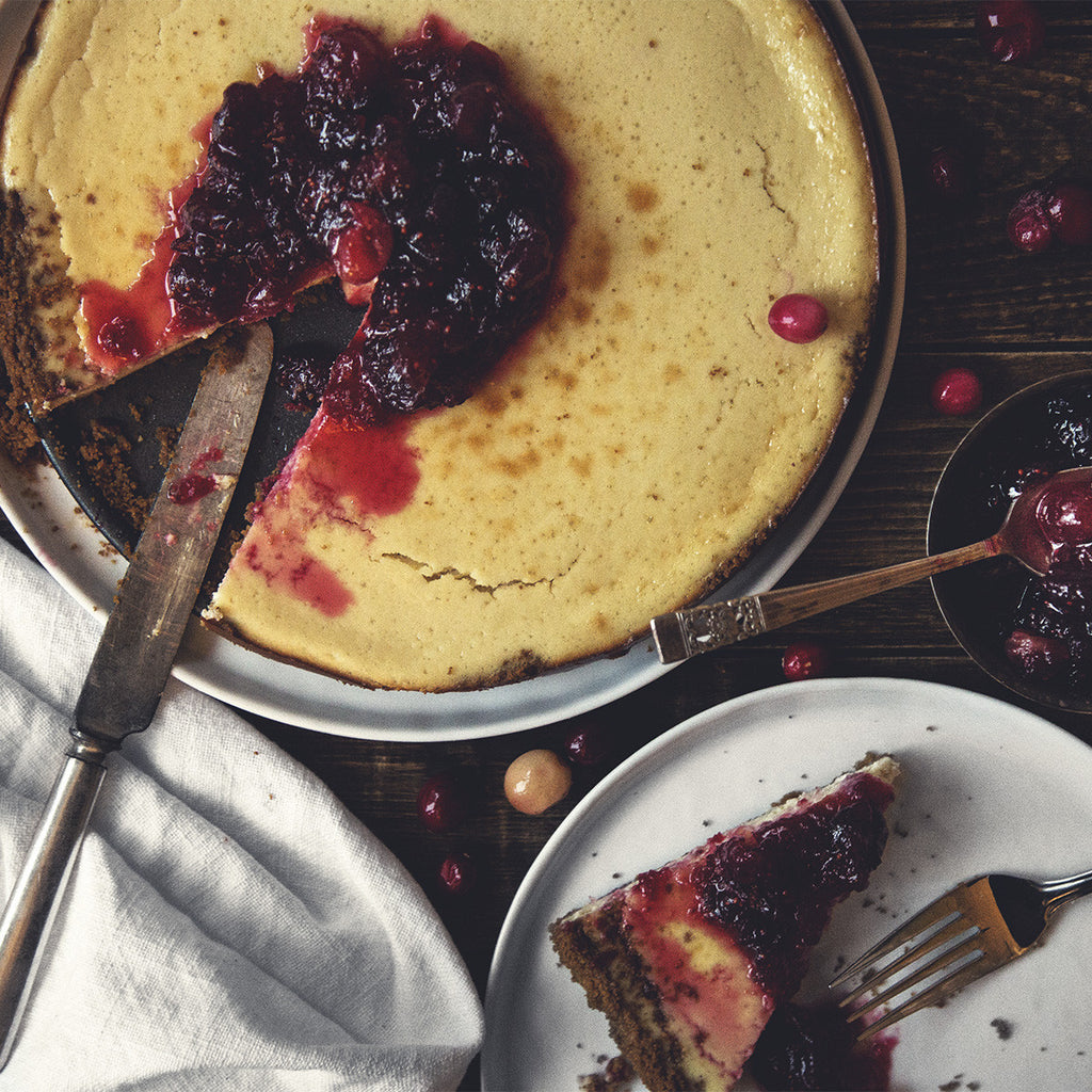 Spiced Cranberry Cheesecake