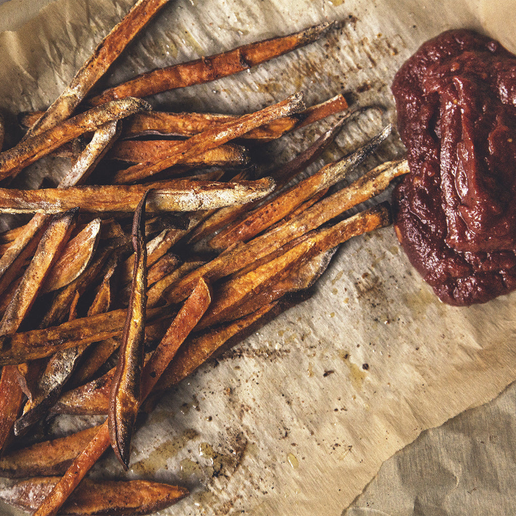 Sweet Potato Fries w/ Balsamic Ketchup