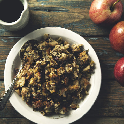 Herby Apple Sausage Stuffing