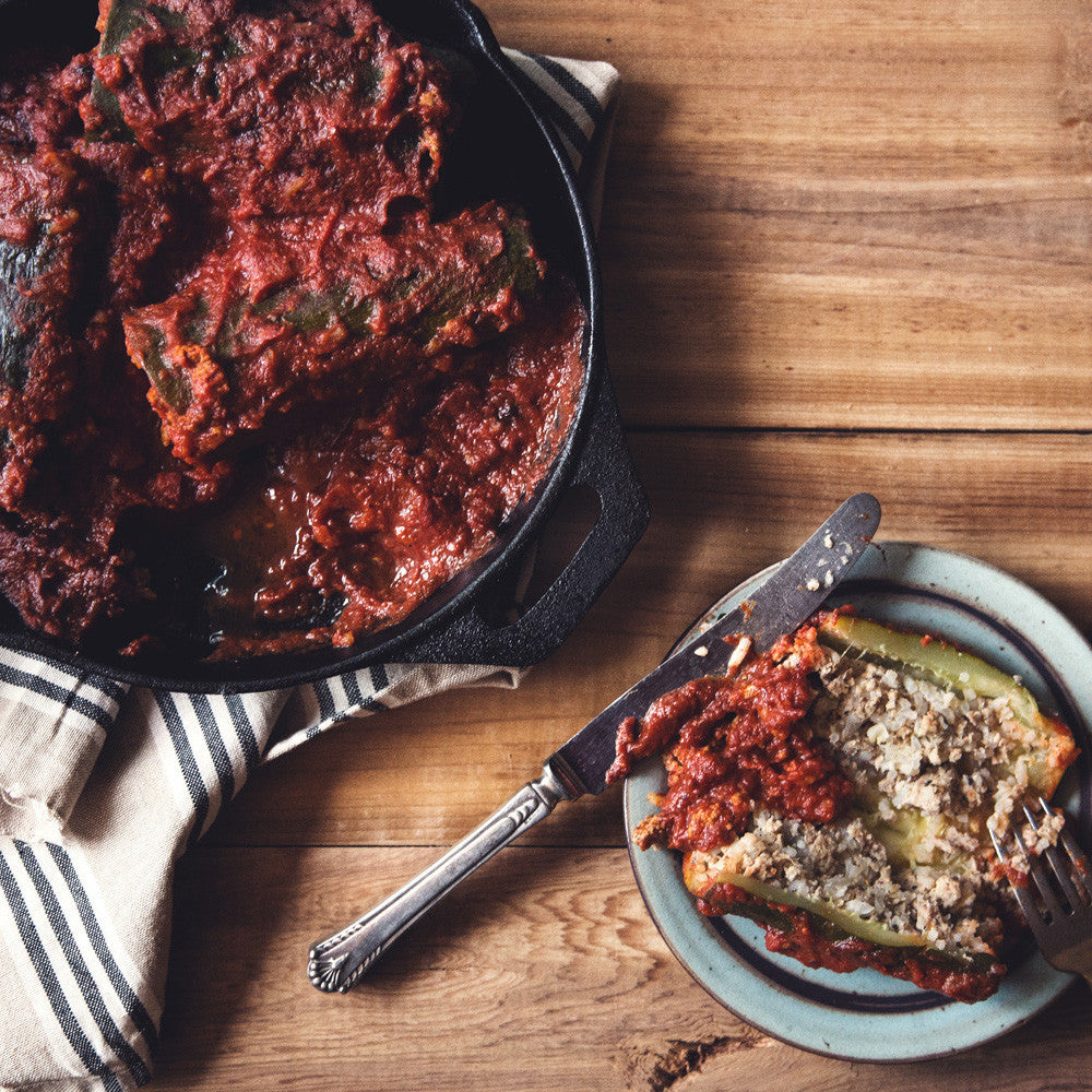 Stuffed Zucchini and Porcupine Meatballs