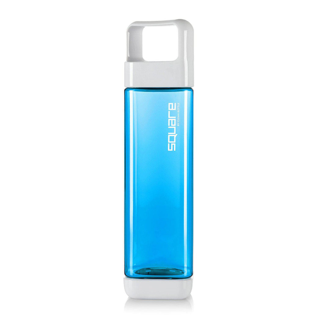 The Square-Tritan Square-Clean Bottle-Blue-BPA -free-Water Bottle-Clean Bottle