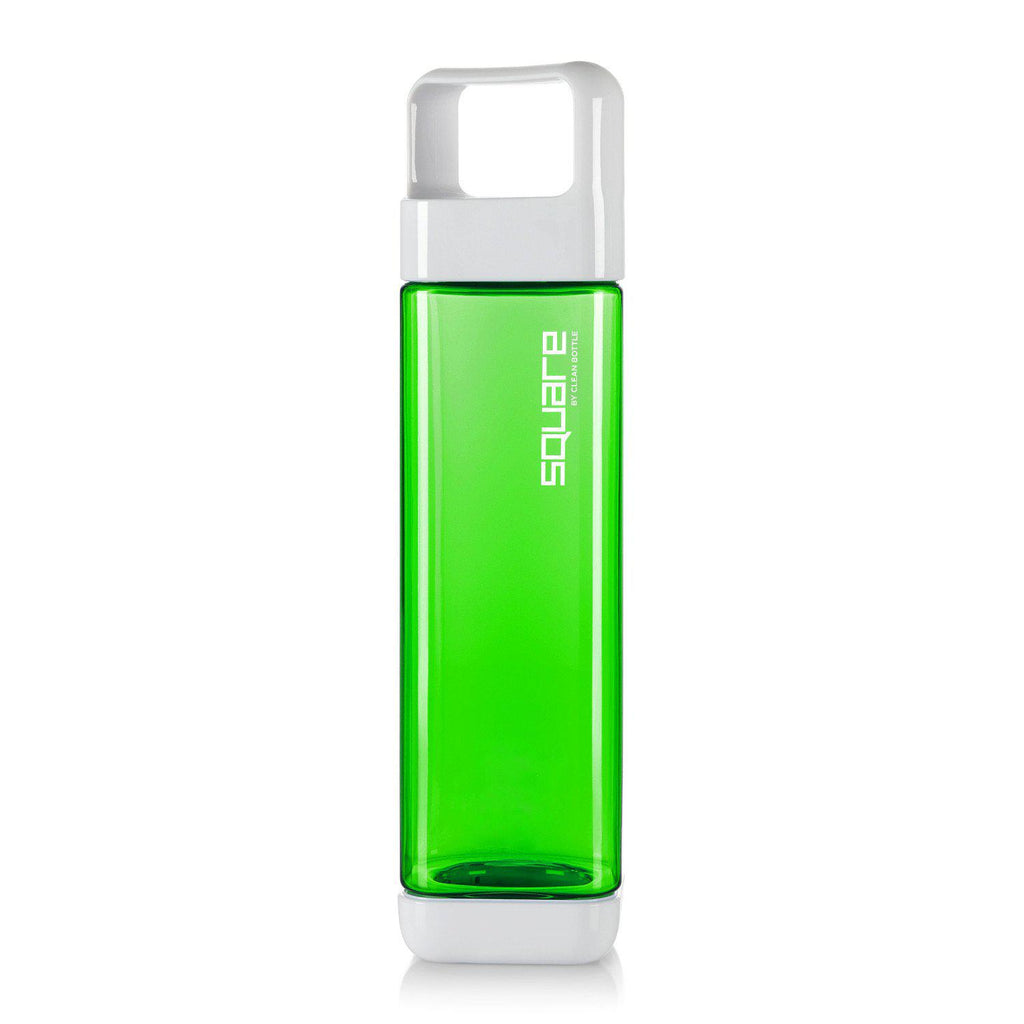 The Square-Tritan Square-Clean Bottle-Green-BPA -free-Water Bottle-Clean Bottle