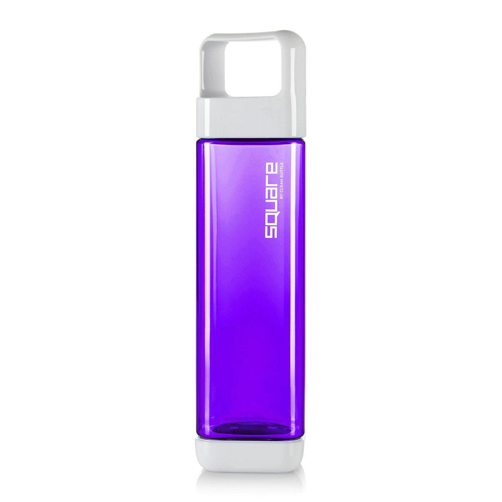 The Square-Tritan Square-Clean Bottle-Purple-BPA -free-Water Bottle-Clean Bottle