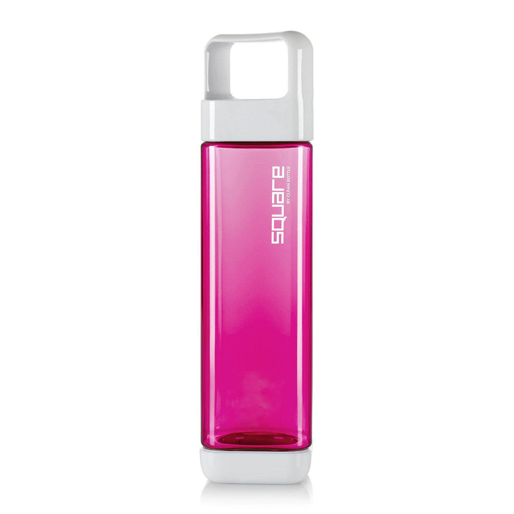 The Square-Tritan Square-Clean Bottle-Raspberry-BPA -free-Water Bottle-Clean Bottle
