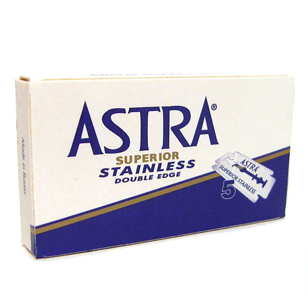 Astra Stainless Double Edge Razor Blades - Pack of 5