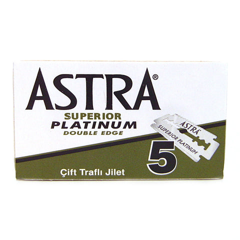 Astra Platinum Double Edge Razor Blades - Pack of 5