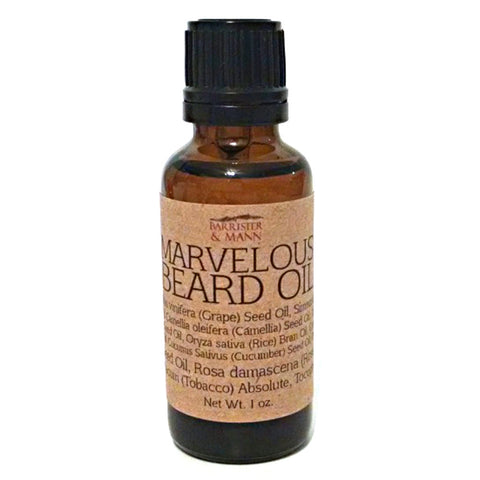 Barrister and Mann Marvelous Beard Oil