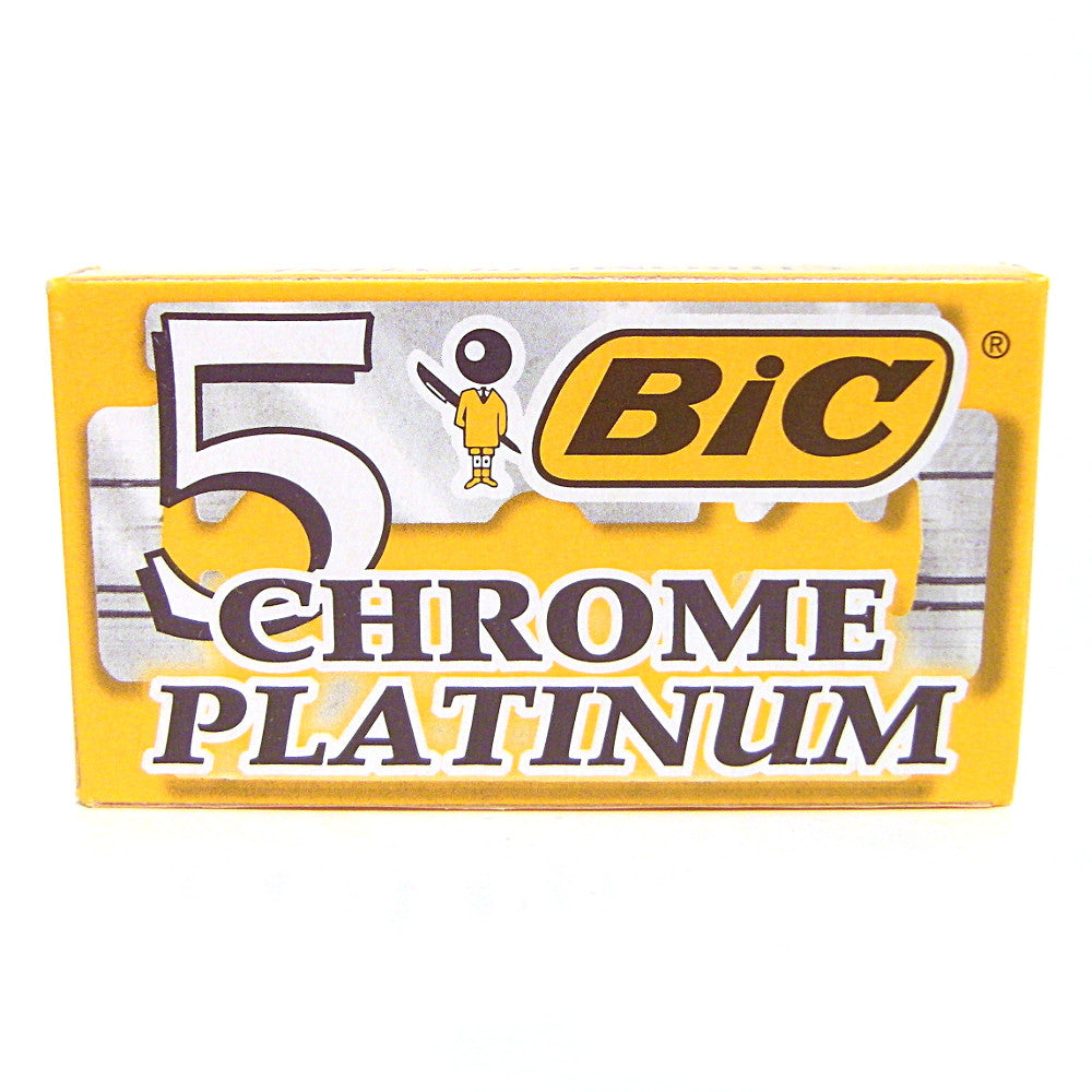 Bic Chrome Platinum Double Edge Razor Blades - Pack of 5