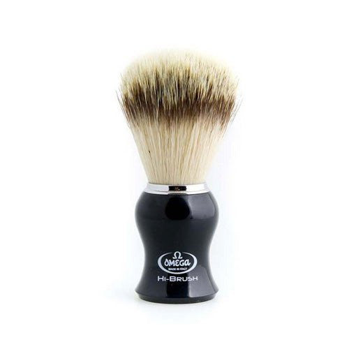Omega Hi-Brush Synthetic Shaving Brush - Classic Handle - 5 Colors Available!