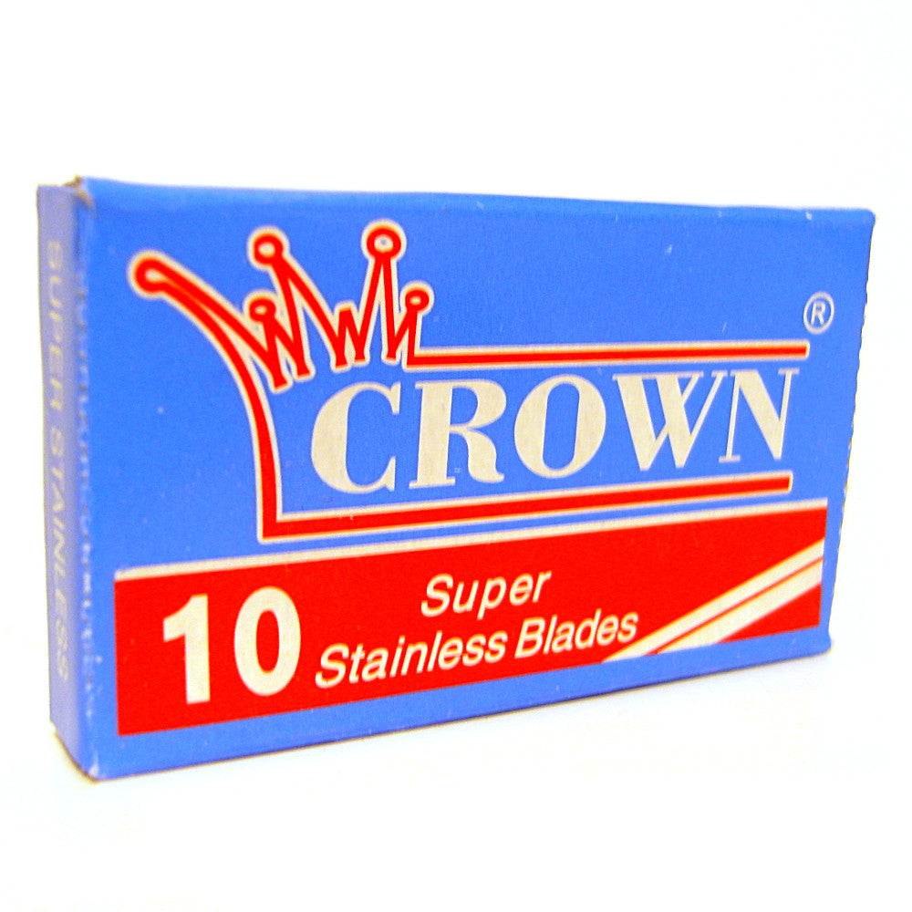 Crown Super Stainless Double Edge Razor Blades - Pack of 10