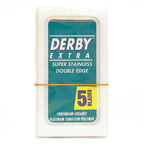 Derby Extra Super Stainless Double Edge Razor Blades - Pack of 5