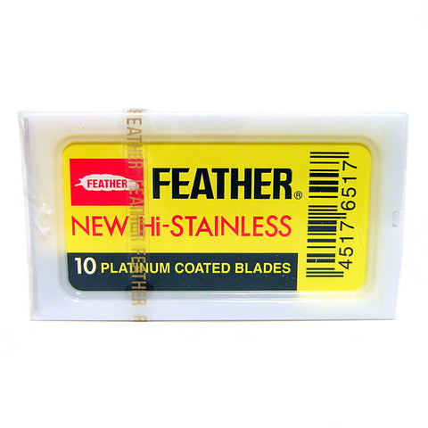 Feather Double Edge Razor Blades - Pack of 10