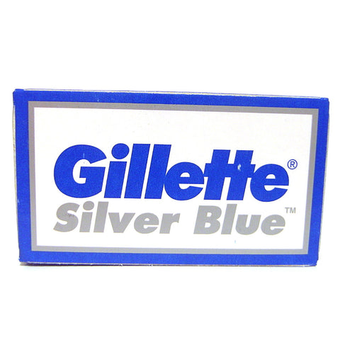 Gillette Silver Blue Double Edge Razor Blades - Pack of 5