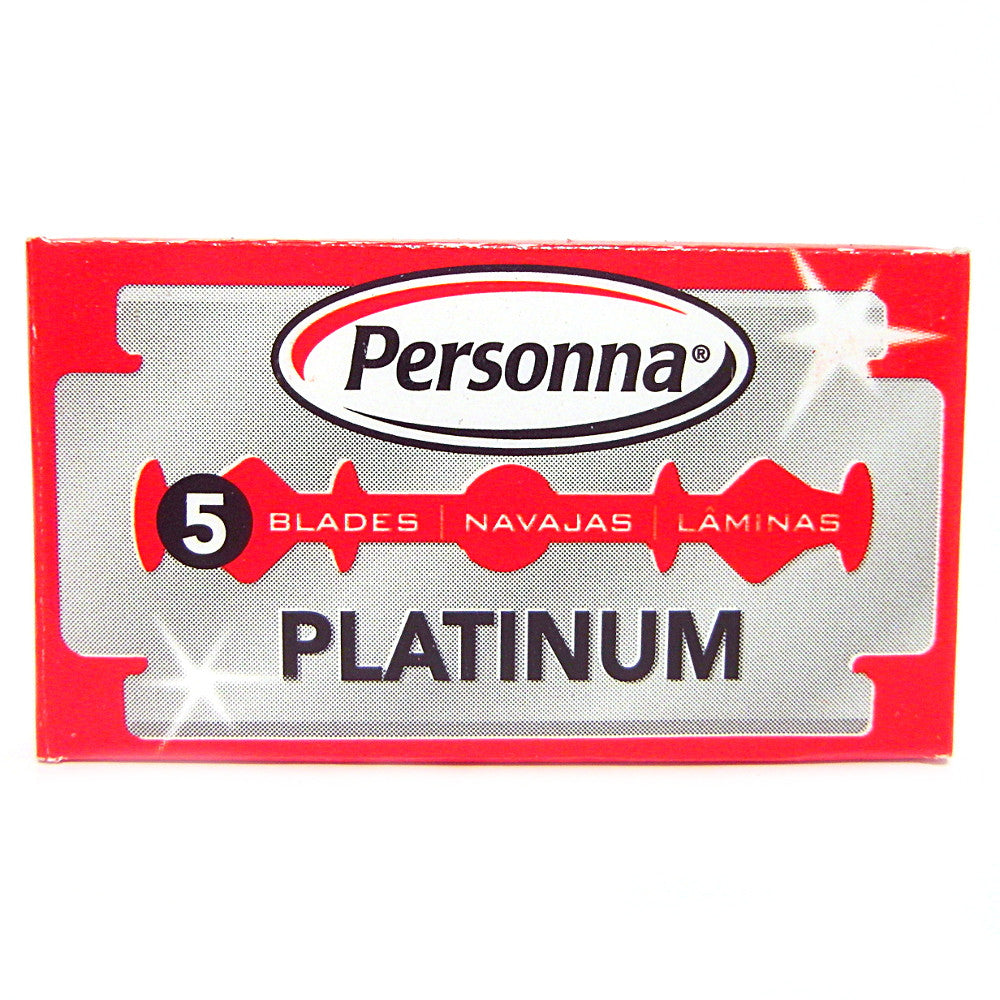 Personna Platinum Double Edge Razor Blades - Pack of 5