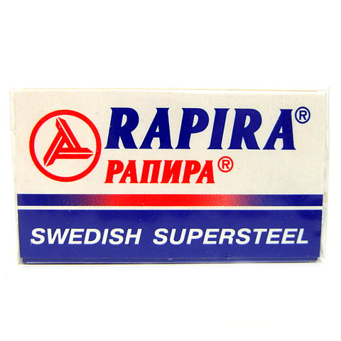 Rapira Swedish Supersteel Double Edge Razor Blades - Pack of 5