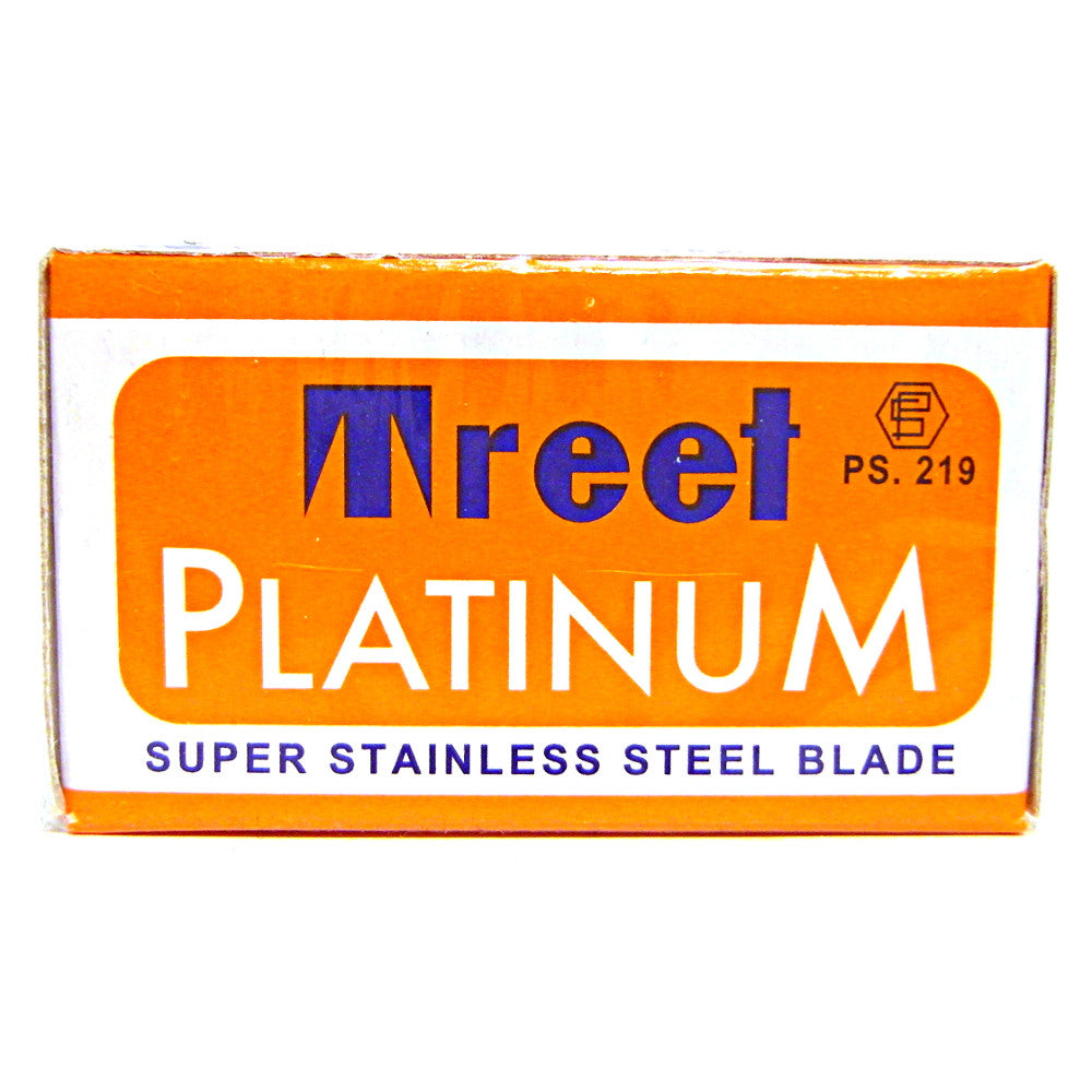 Treet Platinum Double Edge Razor Blades - Pack of 10