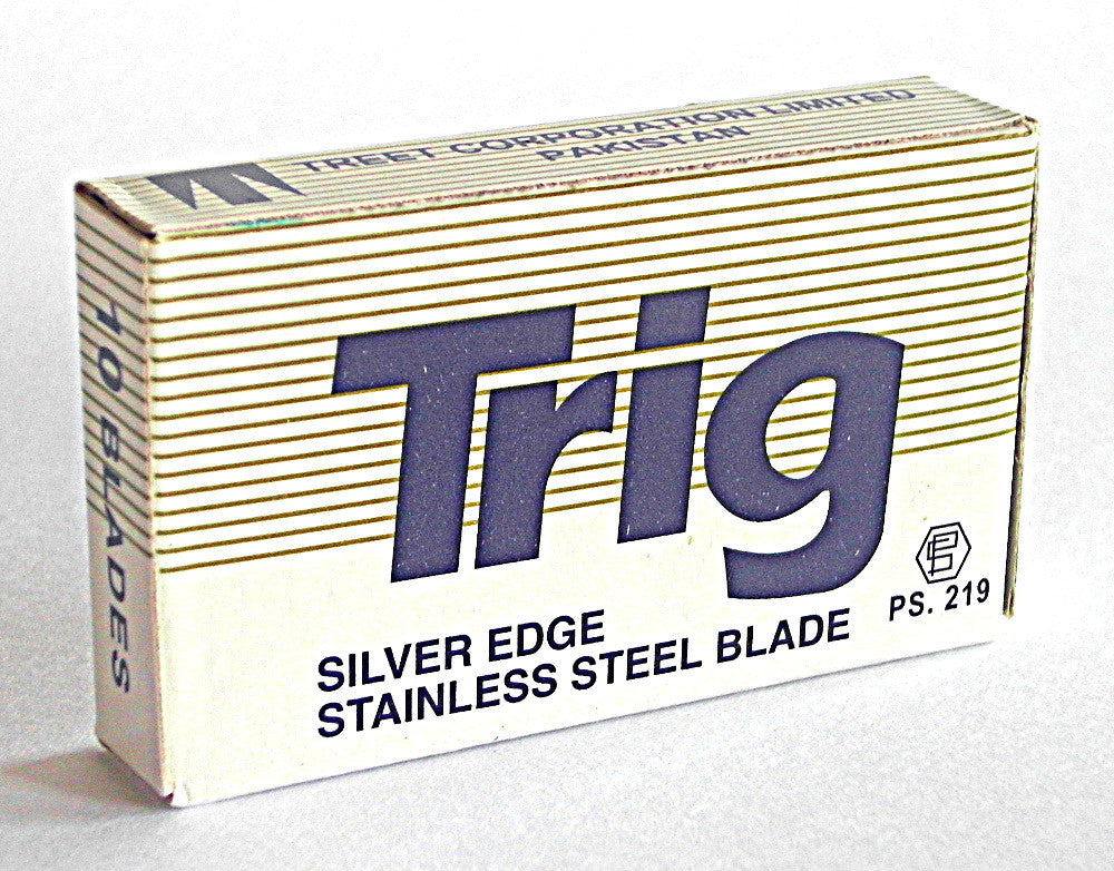Trig Silver Edge Stainless Steel Double Edge Razor Blades - Pack of 5