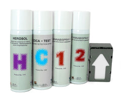 Mistral Security, Drug Detection Aerosol Products, D4D, Meth-Test, Herosol, Cannabispray, Coca-Test