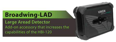 Broadwing Large Area Detector for the HBI-120.  Viken Detection