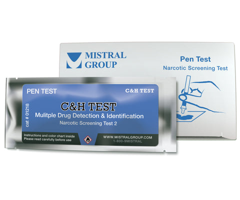 C&H PenTest, from Mistral Security, is a drug test kit that detects and identifies several drugs at once.