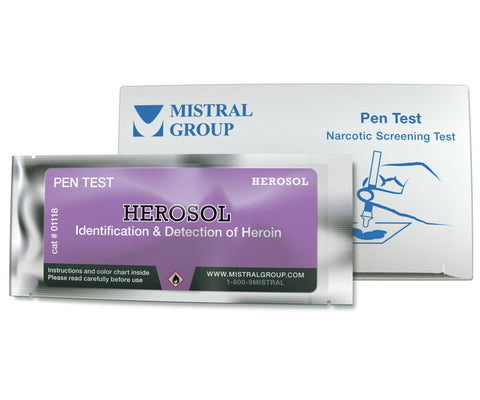 Herosol is a unique application based field test kit for the detection and identification of Heroin, Amphetamines, Methamphetamines, LSD, and related drugs.
