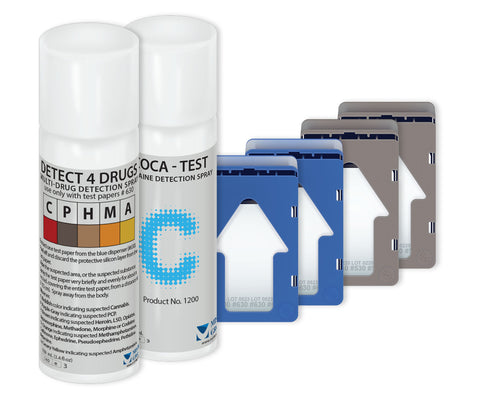 Detect4Drugs (D4D) / Coca Bundle - Drug Detection Aerosol