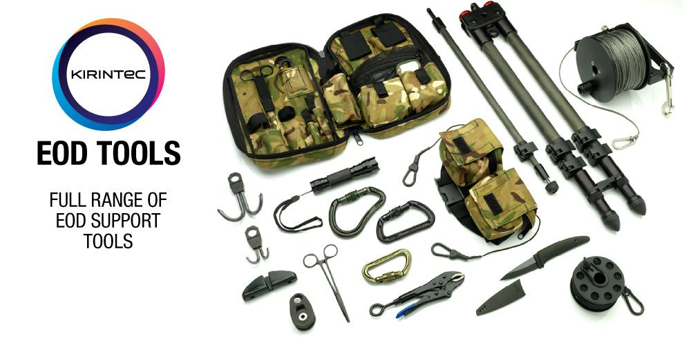 Kirintec EOD Tools, Cutters, Initiators, Hooks, and more...