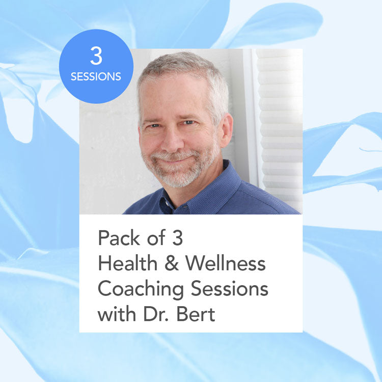 Health and Wellness Coaching: 3-Session Package with Dr. Bert