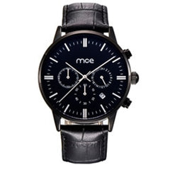 "THE MIND""S EYE - Quartz, leather band calendar watch with timer and reset functions."