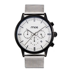 THE THIRD EYE - Thin Men's Quartz Mesh Band Full Calendar Watch with Timer