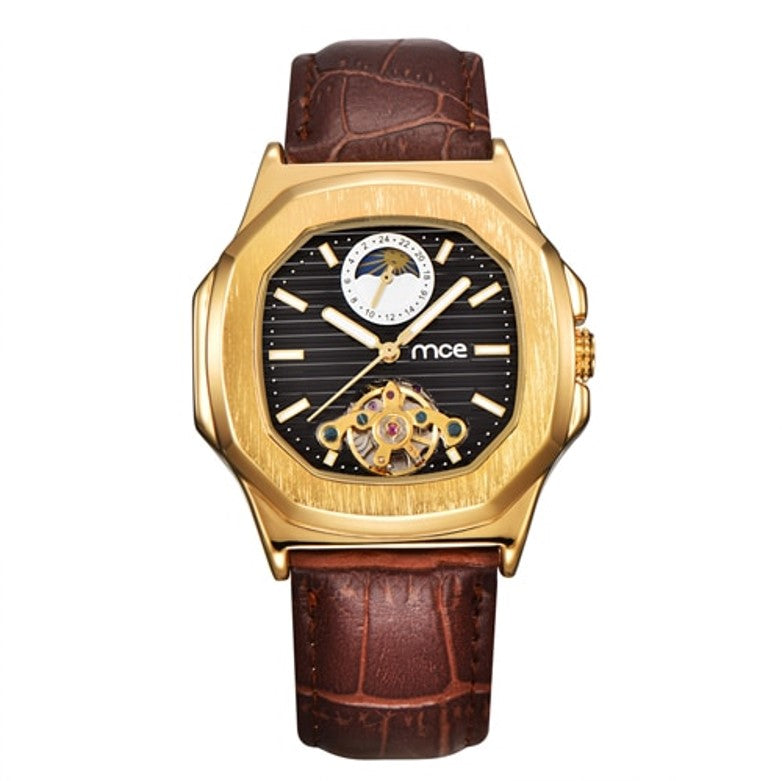 THE VIKING MOON - Men's Automatic Moon Phase Hexagonal Face Watch