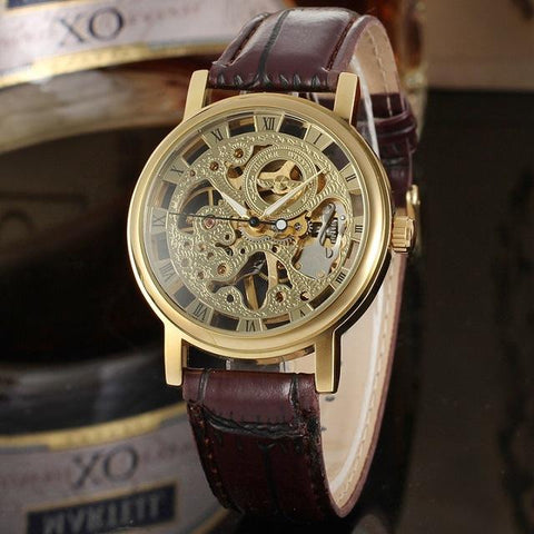"""BALDER""  Men's Skeleton Exposed Dial Mechanical Watch"