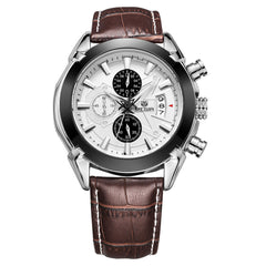 Classic Leather Sports Watch