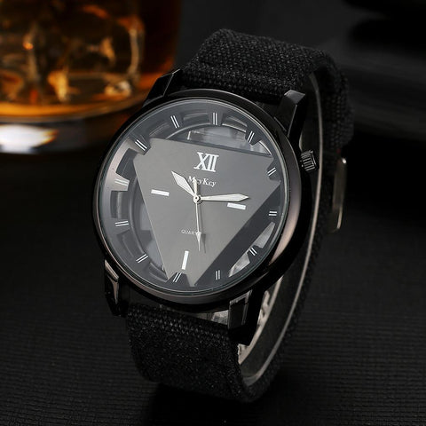 """FIRE EMBLEM"" Men's Stylish Triangle Canvas Watch"
