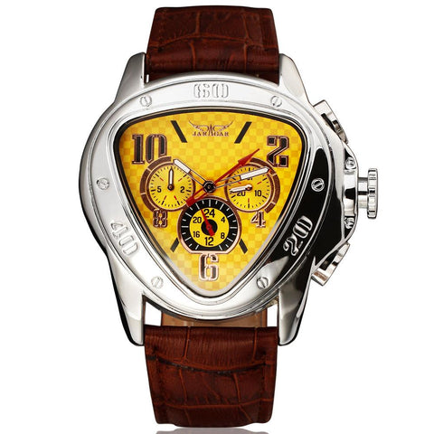 """IRONMAN'S LEGACY"" Men's Exclusive Automatic Watch - Yellow Version 1 Week US Std. Shipping!"