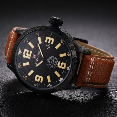 Men's Premium Military Sports Genuine Leather Band Watch