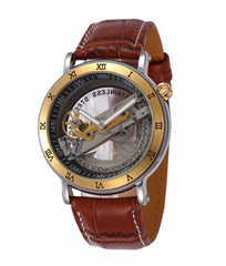 Men's Transparent Skeleton Automatic Watch