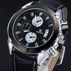 """THE BERETTA"" Classic Leather Sports Watch"