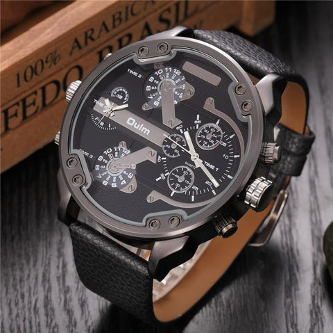 """The Buckeye"" Oversized Masculine Multi Watch"
