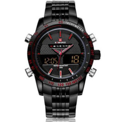 """THE ELITE SOLDIER"" Men's Luxury Dark Steel Military LED Watch"
