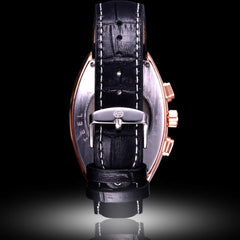 """THE KING OF NORWAY""  Tonneau Shape Calendar Watch"