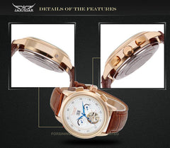 """THE MARS JOURNEY""  Luxury Automatic Masculine Watch With Full Calendar"