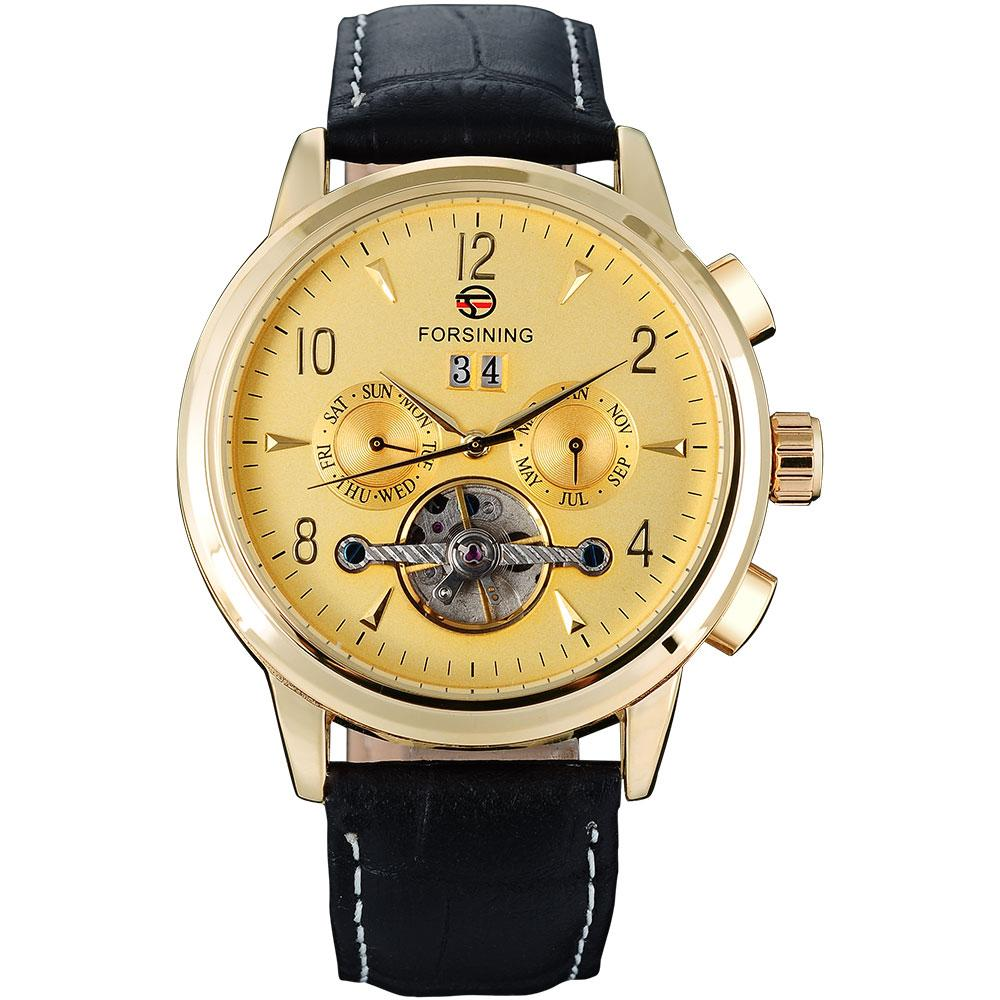 """THE NORSEMAN BOW"" Men's Classic Automatic Full Calendar Dress Watch"