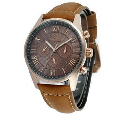"""THE ROMAN HIGHWAY""   Leather Strap Luxury Automatic Custom Watch"