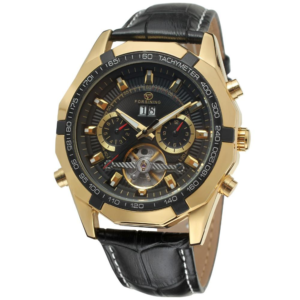 """THE TRIBUNAL"" Luxury Automatic Watch For Men With Full Calendar And 12 Sided Face"
