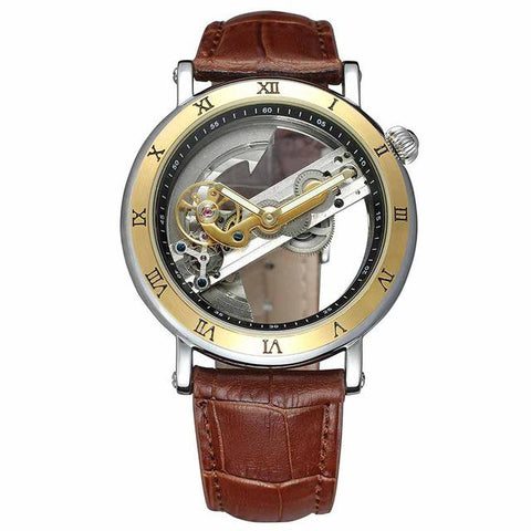"""THE VIKING SPEAR"" Men's Transparent Skeleton Automatic Watch"