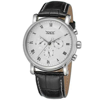 """THE WARRIOR"" Classic Automatic Self-Wind Leather Band Men's Watch"
