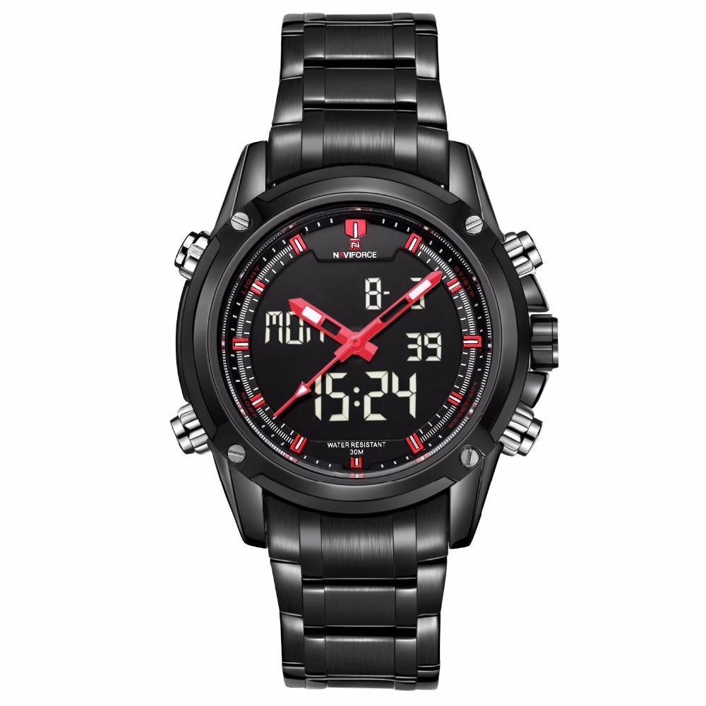 "Watch - ""THE ARCTIC CIRCLE"" - Men's Sports Watch Quartz Analog With Digital LED Clock And Calendar"