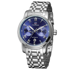 "Watch - ""THE BLUE OCEAN""  Men's Classic Automatic Calendar Watch With Blue Face"
